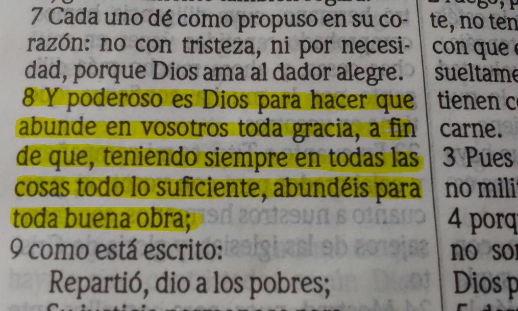 2 de corintios 9 : 8